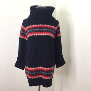 Gap Navy Striped Chunky Turtleneck Sweater